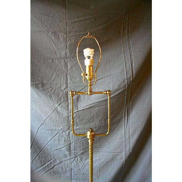 Modern Brass Floor Lamp - Image 6 of 10