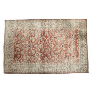 "Vintage Distressed Kashan Carpet - 8'4"" x 12'10"""
