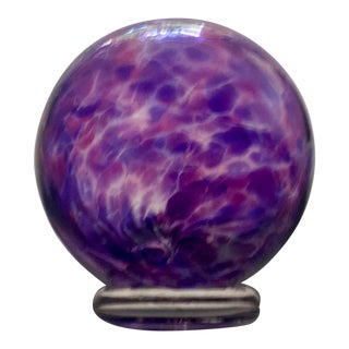 Hand Blown Purple Glass Globe
