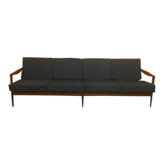 1960s Walnut & Slat Back Sofa