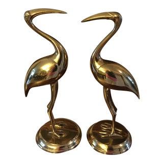 Brass Cranes - A Pair