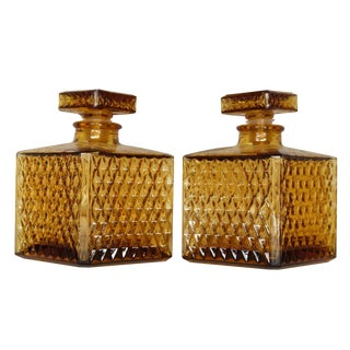 Italian Leather Covered Carafes 69