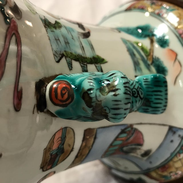 Antique Japanese Porcelain & Wood Lamp - Image 8 of 11