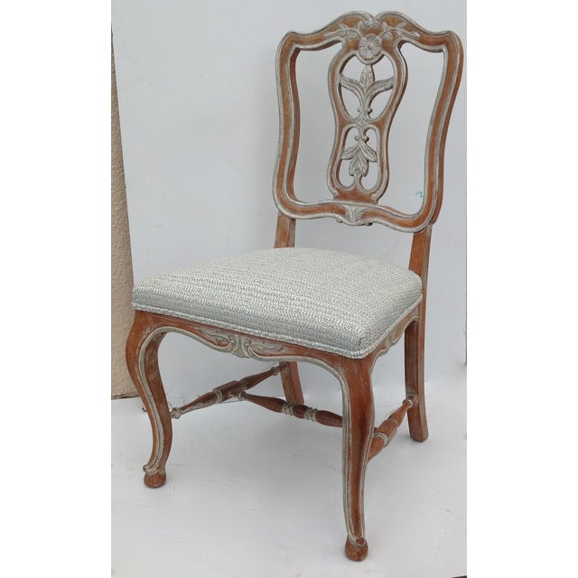 Antique French Parcel Gilt Accent Chair - Image 7 of 11