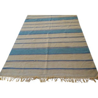 Handwoven Wool Rug From India - 5′ × 8′2″