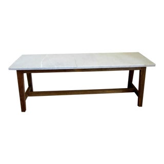 Natural Stone Wood Framed Bench