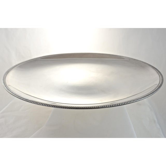 "Oversize 17"" Round Silver Tray, Circa 1950s - Image 3 of 4"