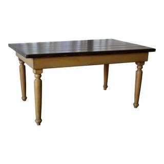 Painted Reclaimed Wood Dining Table