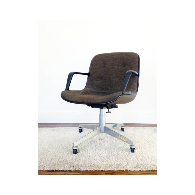 Charles Pollock for Knoll Tweed Office Chair - Image 2 of 6