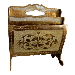 Florentine Gilt Magazine Rack