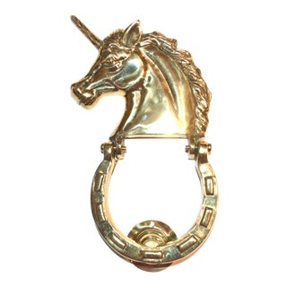 Golden Unicorn Door Knocker