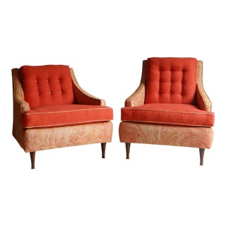 Vintage His & Her Club Chairs - A Pair
