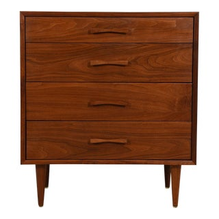 Foster McDavid Walnut 4-Drawer Chest with Bow-Tie Pulls