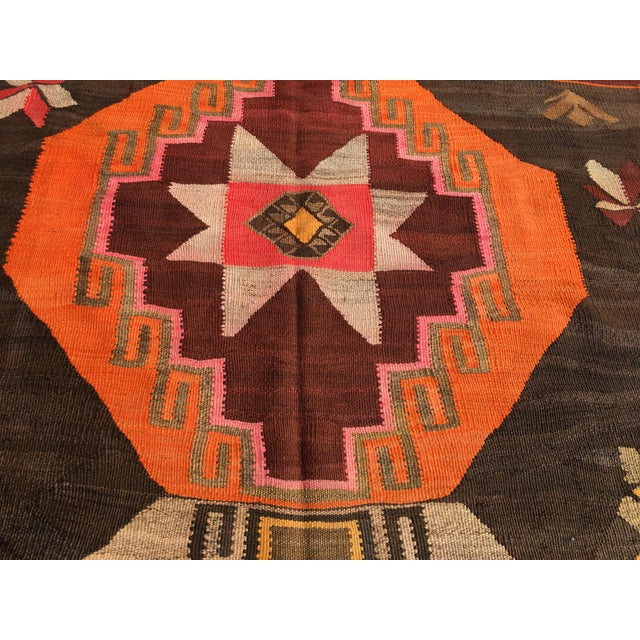Vintage Turkish Kilim Rug - 6′4″ × 12′ - Image 8 of 10