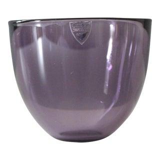 Orrefors Sweden Pastillo Mini Bowl Candle Holder Purple Lena Bergström