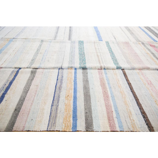 "Vintage Rag Rug Carpet - 6'6"" X 10'10"" - Image 2 of 7"