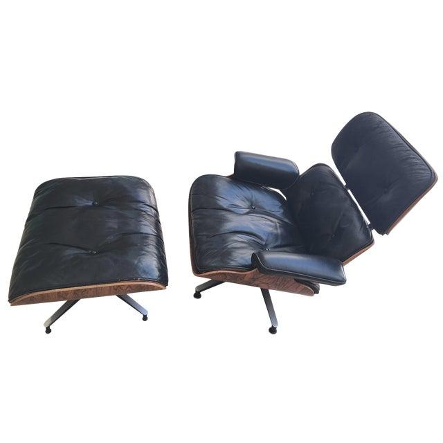 Eames Rosewood Lounge Chair Ottoman Chairish