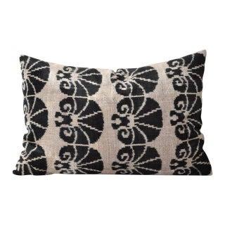 Silk Velvet Ikat Accent Pillow