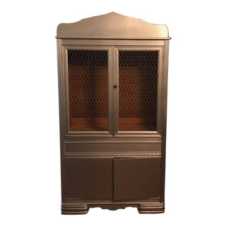 Vintage Shabby Chic Solid Wood Kitchen Hutch