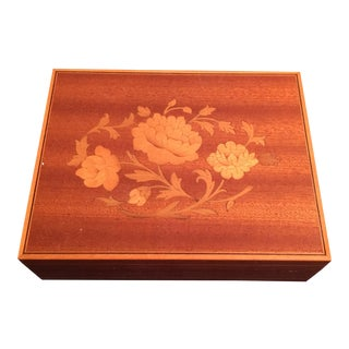 Vintage Italian Inlaid Musical Jewelry Box