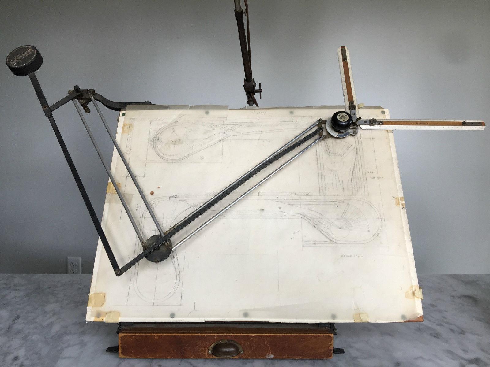 antique albert nestler drafting board table top chairish