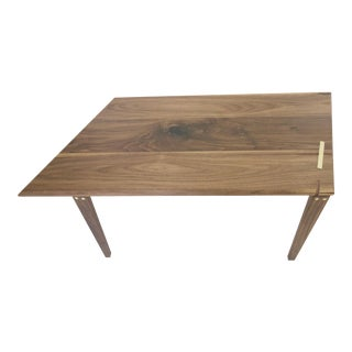 Minimalist Solid Walnut Geometric Coffee Table