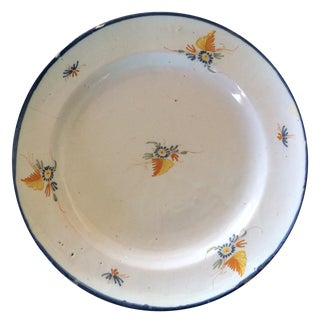 Antique Blue & Yellow Provence Platter