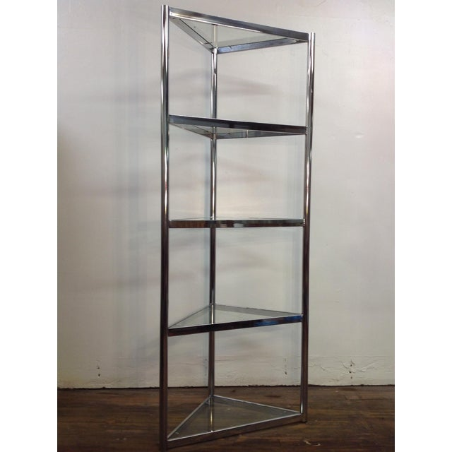 Image of Corner Etagere Attributed to Milo Baughman