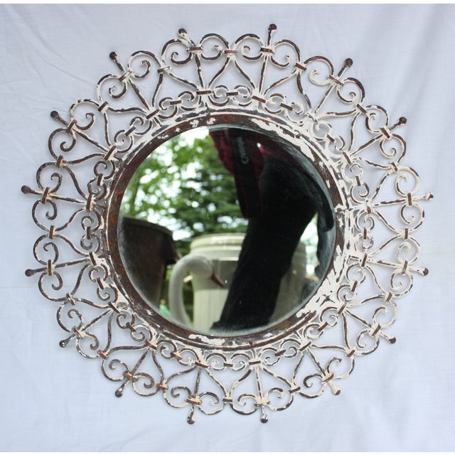 White Iron Mirror - Image 2 of 4