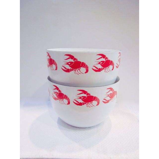 Image of Kaj Franck Finel Arabia Enamel Lobster Bowls