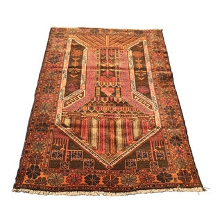 "Vintage Persian Baluchi Rug - 3'x4'6"""