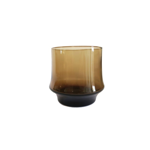 Vintage Libbey St. Clair Smoky Brown Rocks Glasses - Set of 4 - Image 2 of 2