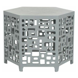 Six Sided Geometric End Table