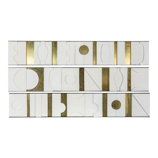 Art Wall Sculpture Panels Triptych by Paul Marra - Image 1 of 8