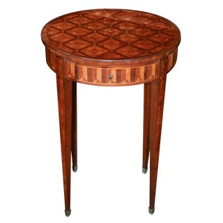 Fine French Parquetry Inlaid Side Table