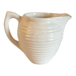 Antique Salt Glazed Ironstone Pitcher