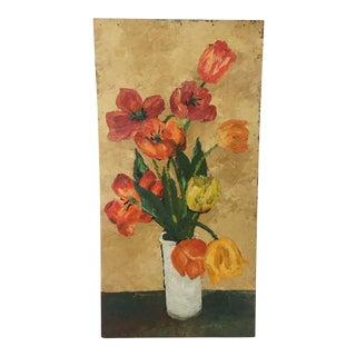 French Style Flower Vase Still Life Oil Painting