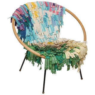 1950s Colorful Zipper Chair