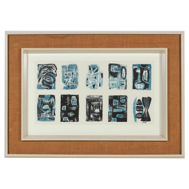 Image of Mid Century Abstract Lithograph by Jerry Opper