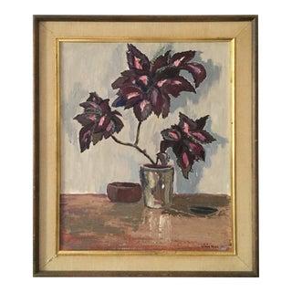 Vintage Framed Floral Still Life Oil Painting