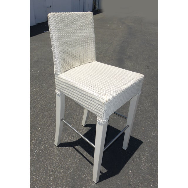 French Country White Rattan Counter Stools 3 Chairish