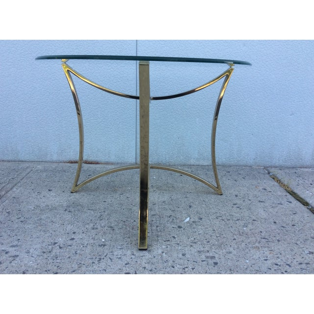 1970's Modern Demi Lune Brass Side Tables - Image 7 of 11