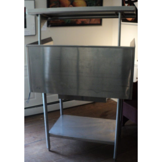 Industrial Stainless Steel Restaurant Island Table - Image 9 of 11