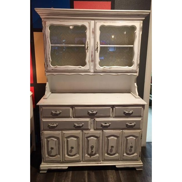 Image of White Shabby Chic China Display Cabinet