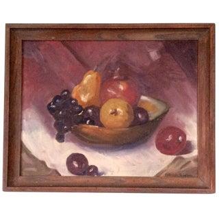 Vintage Still Life Oil Painting on Canvas Panel