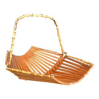 Vintage Bamboo Fruit Basket