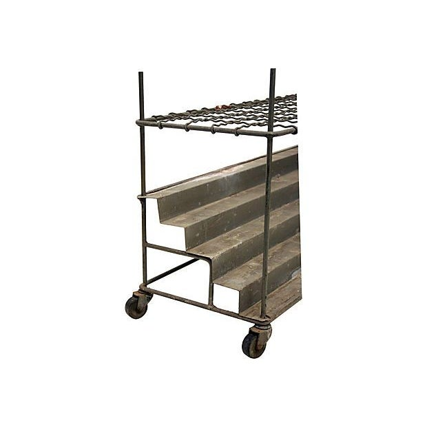 Industrial Architectural Plan Storage Cart - Image 4 of 6