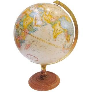 Vintage Old Fashioned Globe on Wood Base