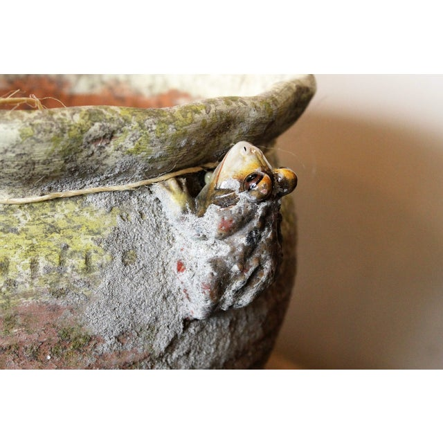 Image of Antique French Pots with Frogs - A Pair