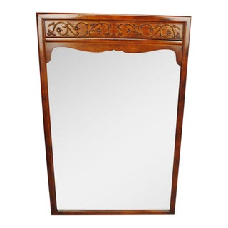 1980s Vintage Jimmy Robinson for Henredon Carved Wood Mirror